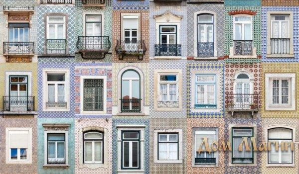 Разные окна в доме