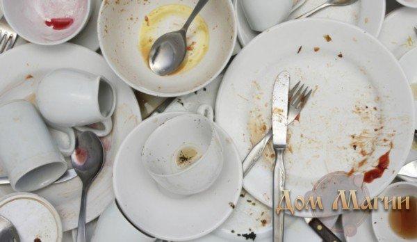 Если снится грязная посуда