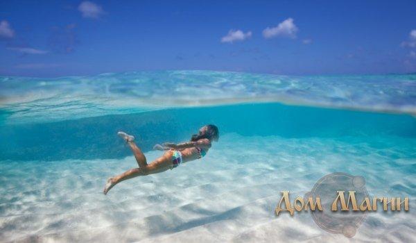 Плавать в океане