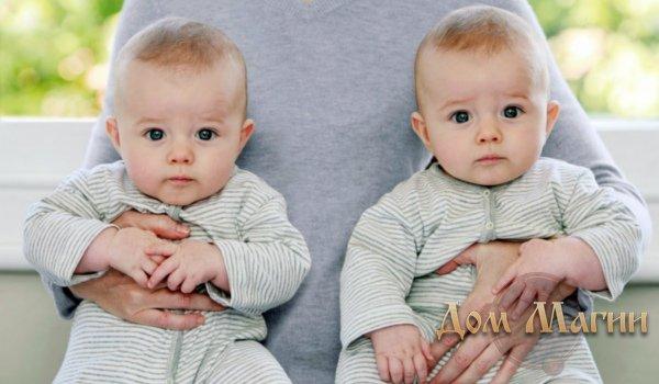 Младенцы близнецы